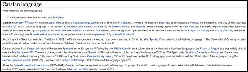 Wikipedia Catalan