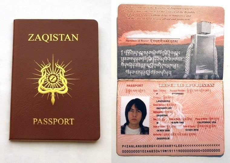 Zaqistan Country Passport Fake