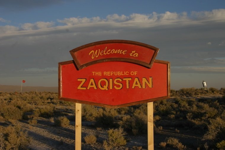 Zaqistan Country Welcome Sign