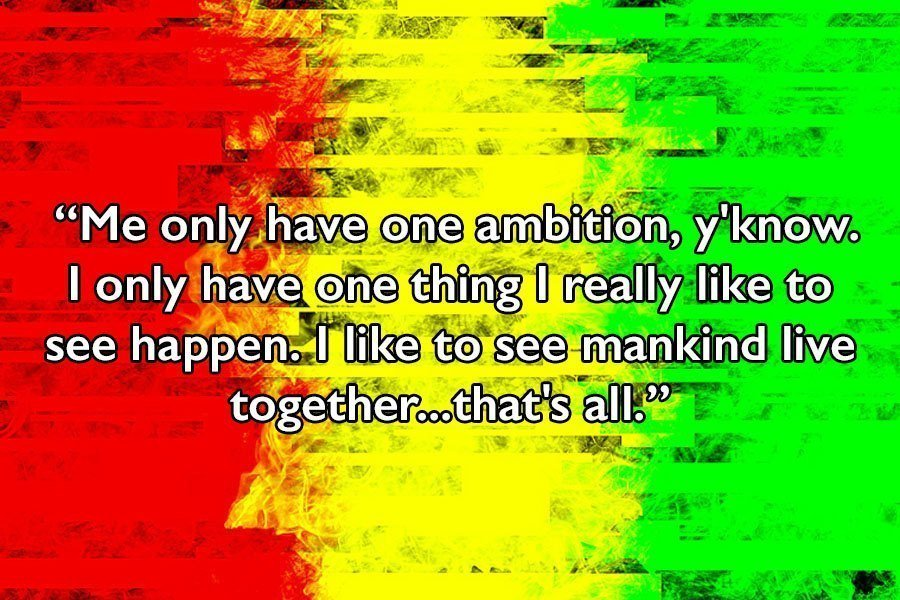 Bob Marley Quotes Colors
