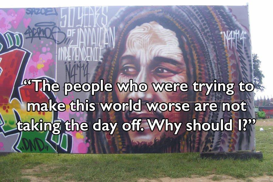 Bob Marley Quotes Mural