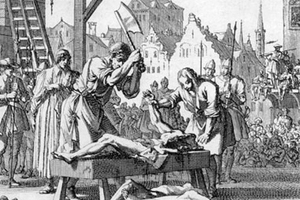 Being hanged drawn and quartered