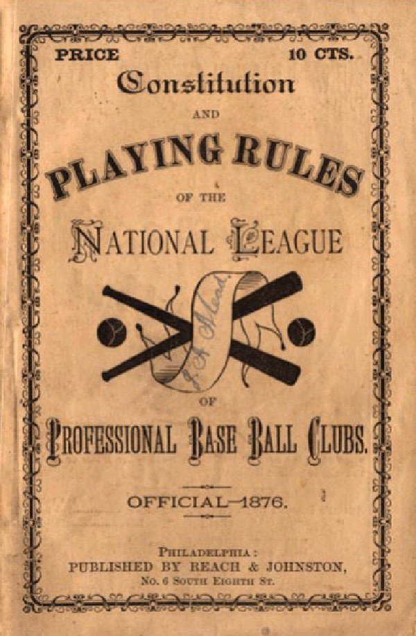 Baseball Rules 1876