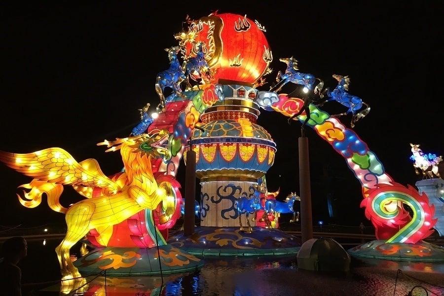 Chinese New Year Lantern Installation