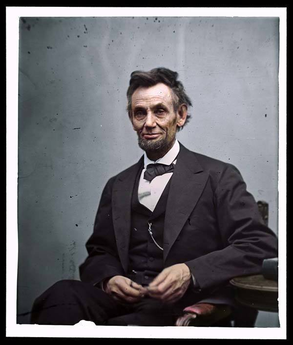 Colorized Photo Abraham Lincoln