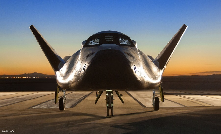 Dream Chaser Spacecraft On A Runway