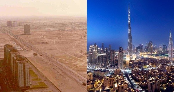 Incredible Dubai Before And After Photos