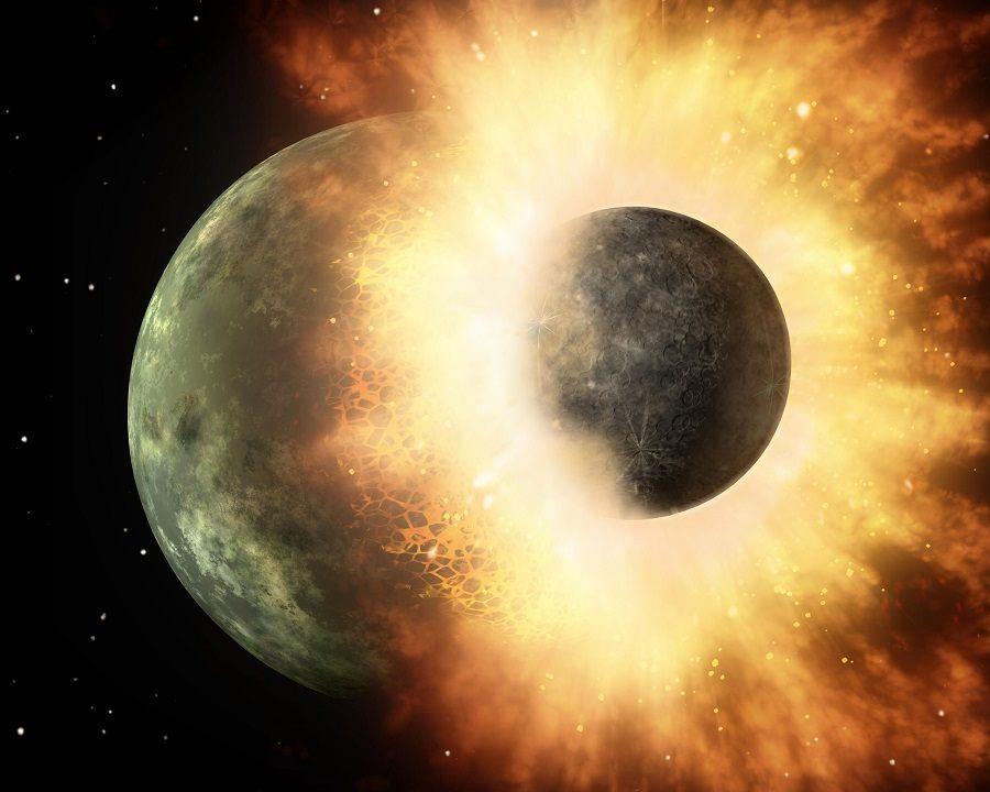 Earth Collision Theia