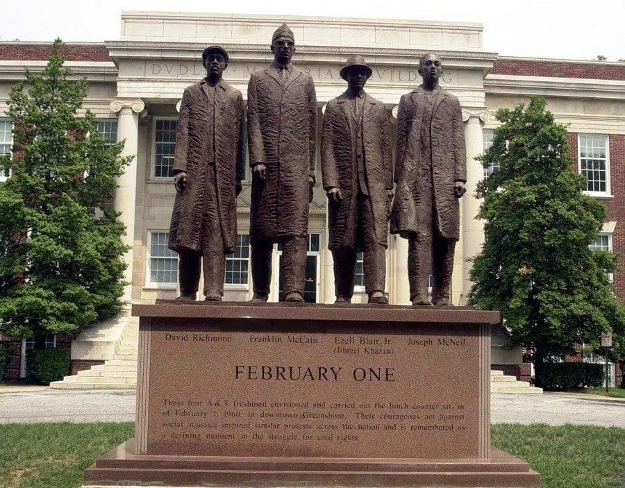 Greensboro Four Statue
