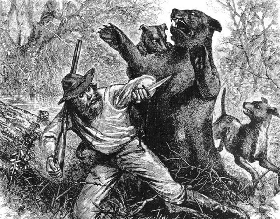 Hugh Glass Depiction