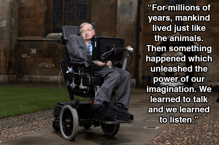 Hawking In Wheelchair