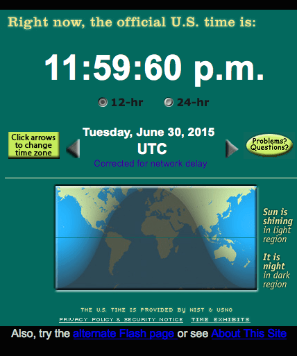 Leap Second Screenshot