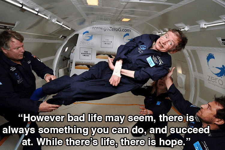 Stephen Hawking Floating