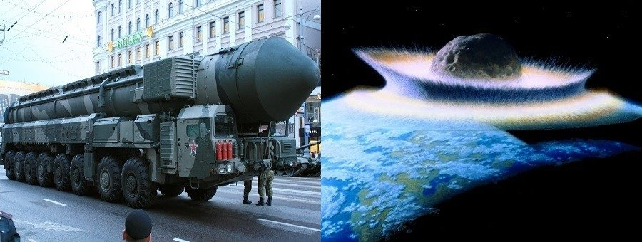 Russia Missiles Asteroids Hitting Earth
