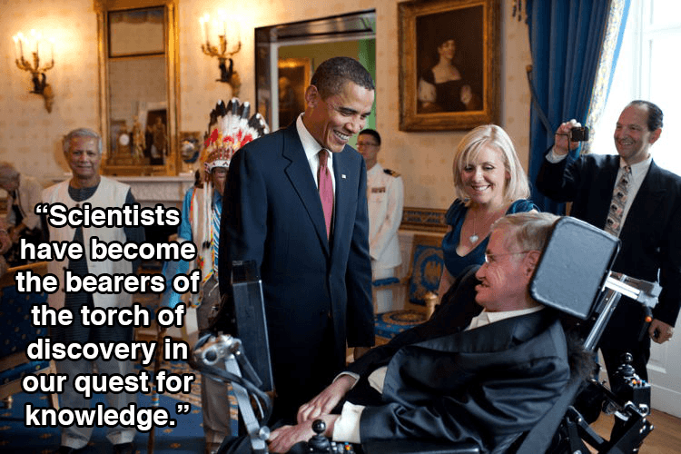 Stephen Hawking With Obama