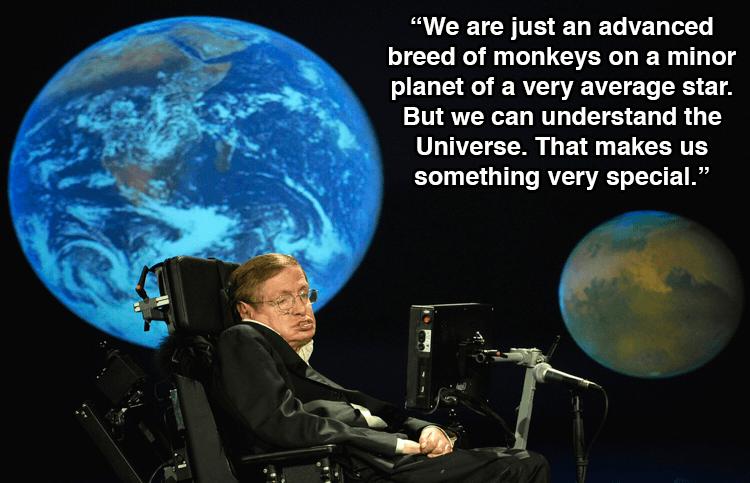 Stephen Hawking Quotes Monkeys
