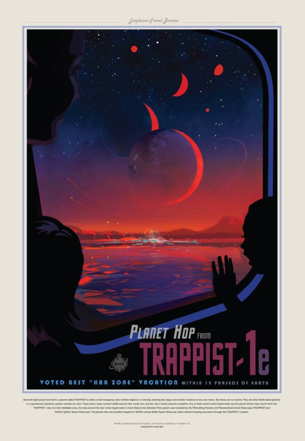 Trappist Exoplanet Poster