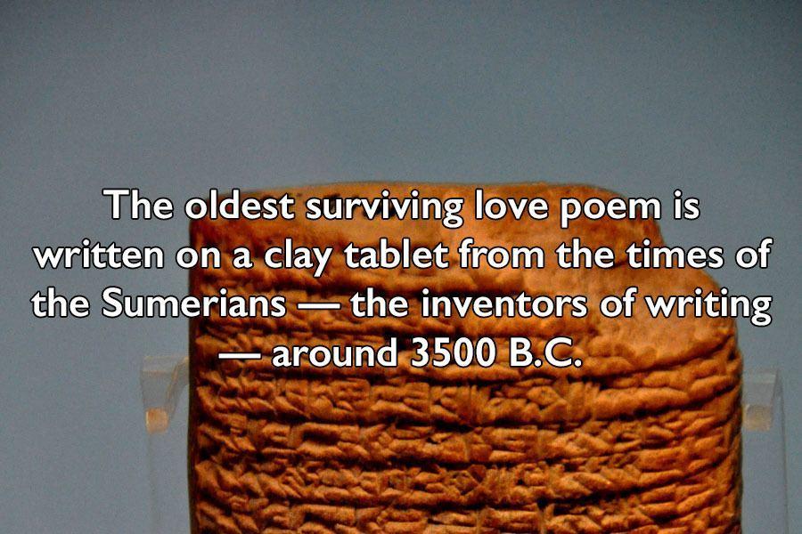 Oldest Surviving Love Poem