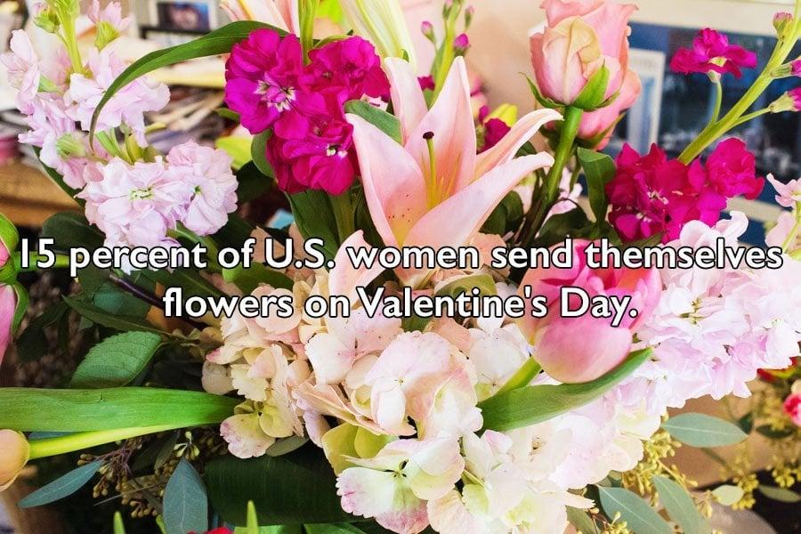 Women Sending Themselves Flowers