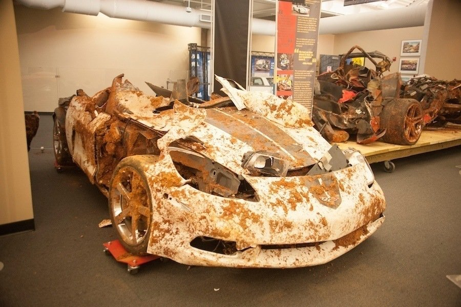 National Corvette Museum >> The Corvette Museum Sinkhole: Watch $5 Million Of Damage ...