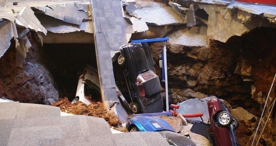 the corvette museum sinkhole 5 million of damage. Cars Review. Best American Auto & Cars Review