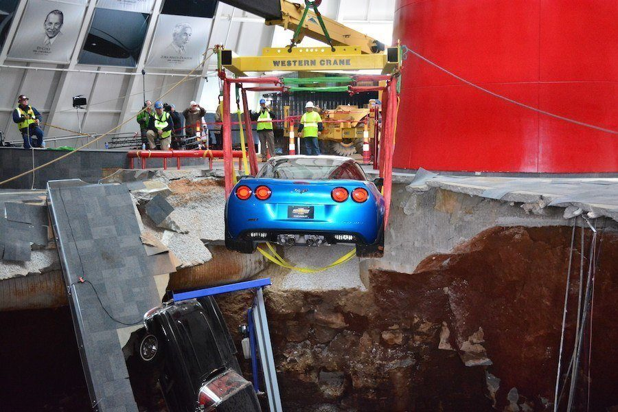 Corvette Sinkhole Photo
