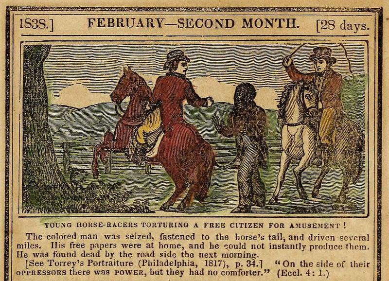 anti slavery almanacs February 1838