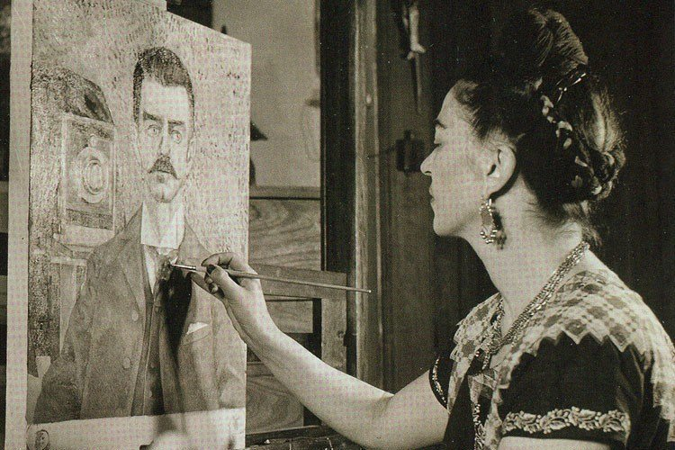 Frida Kahlo Life Easel Painting