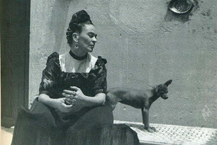 Frida Kahlo Life With Dog