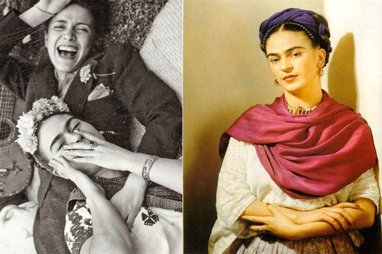 Frida Kahlo Life Laughing Red Shawl