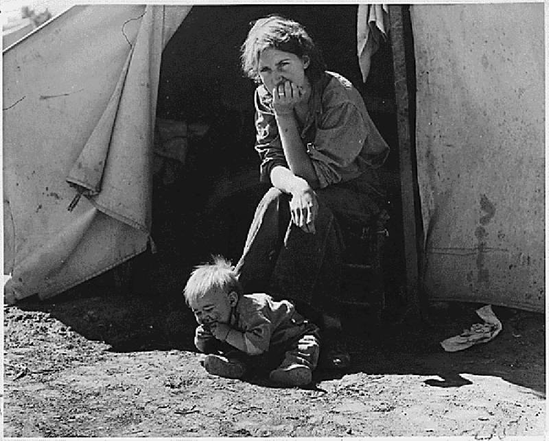 Great Depression Photos Young Mother