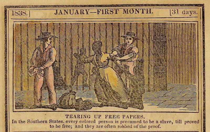 anti slavery almanac January 1838
