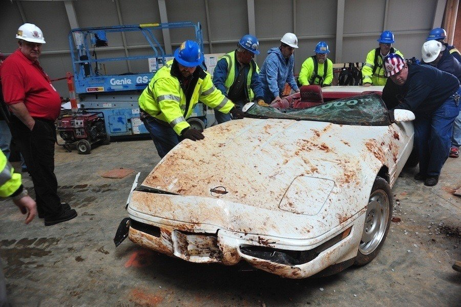 Millionth Corvette Destroyed By Sinkhole