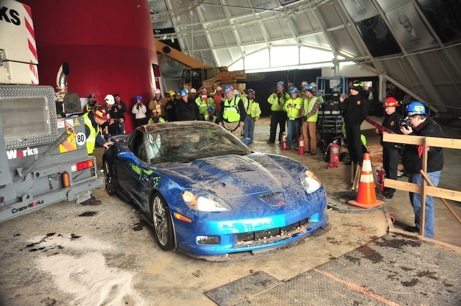 Repairing Corvette Museum Exhibits
