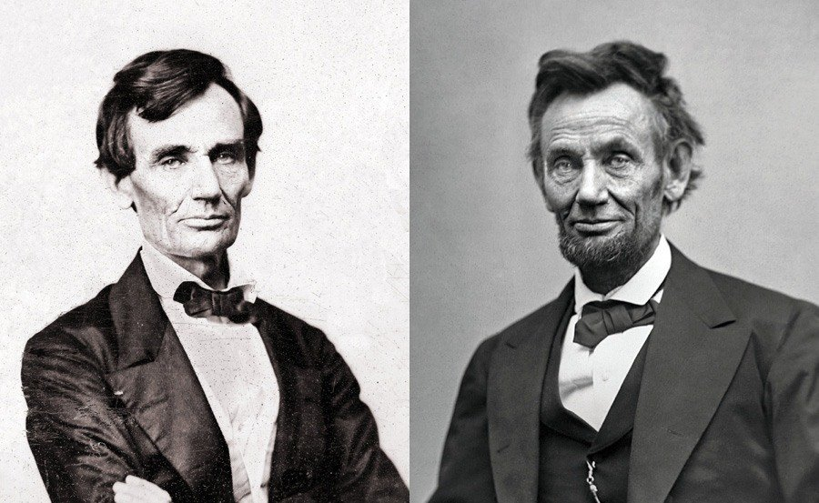 Abraham Lincoln Before And After Comparison
