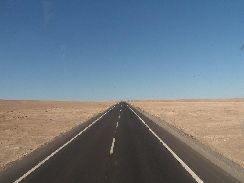 Arica Iquique Straight Road Chile