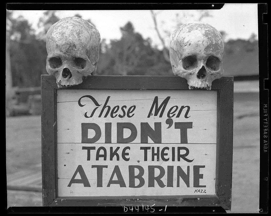 Atabrine Death Warning