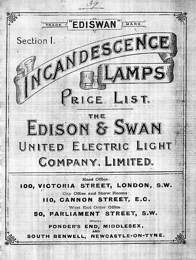 Edison Swan Price List