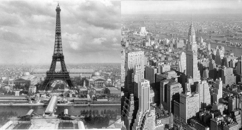 Eiffel Tower Chrysler Building