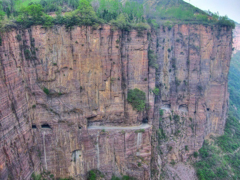 Guoliang Tunnel Road View China