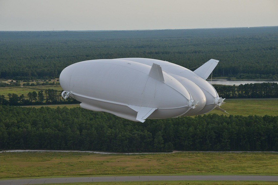 Huge Flying Blimp