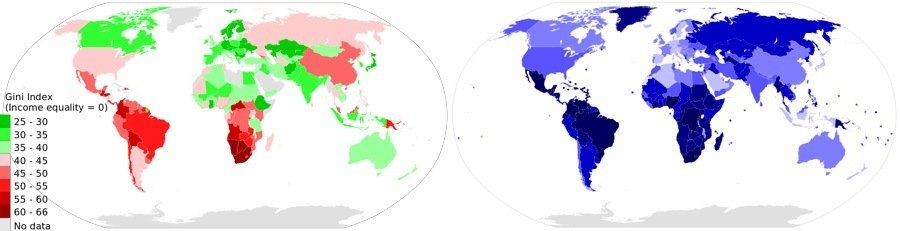 Inequality Homicide Comparison Maps
