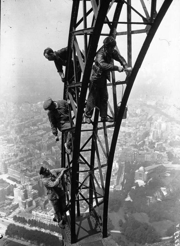 Men Repainting Tower