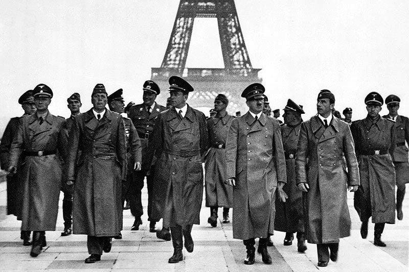 Nazis Hitler Eiffel Tower