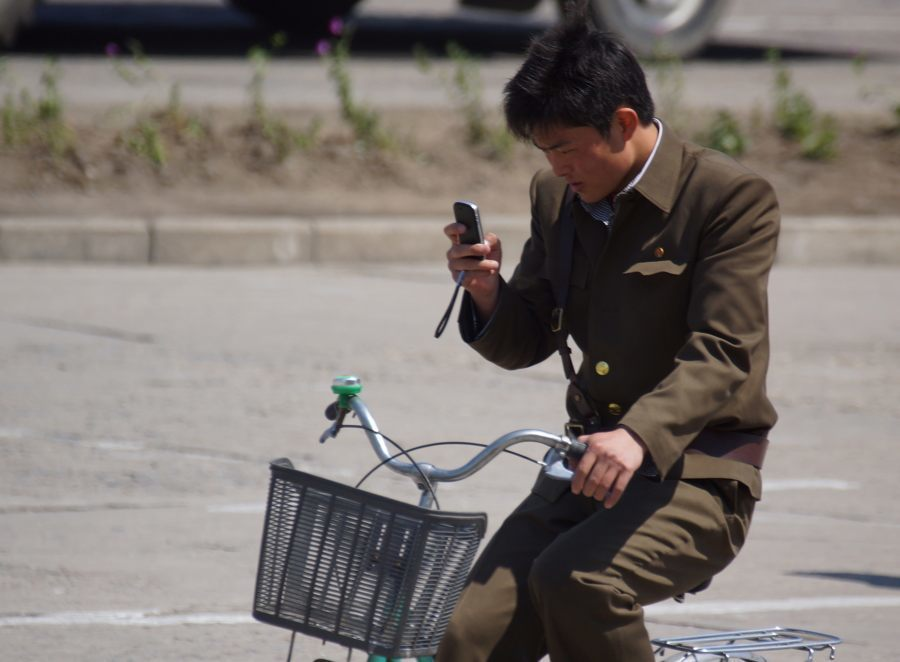North Korea Phone Bike