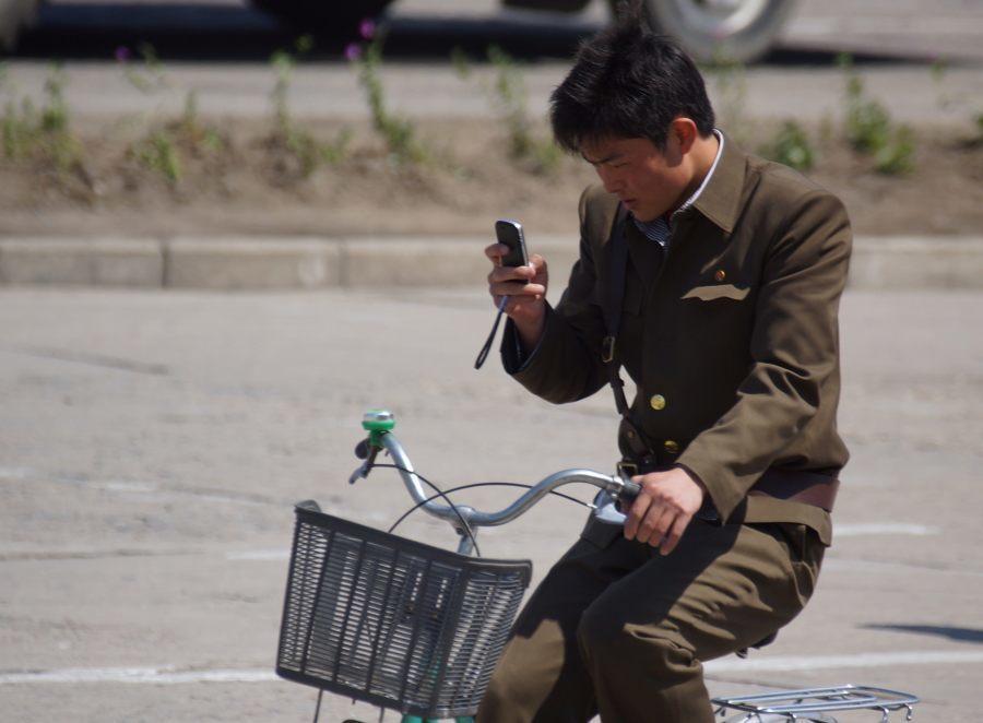 North Korea Phone Bike