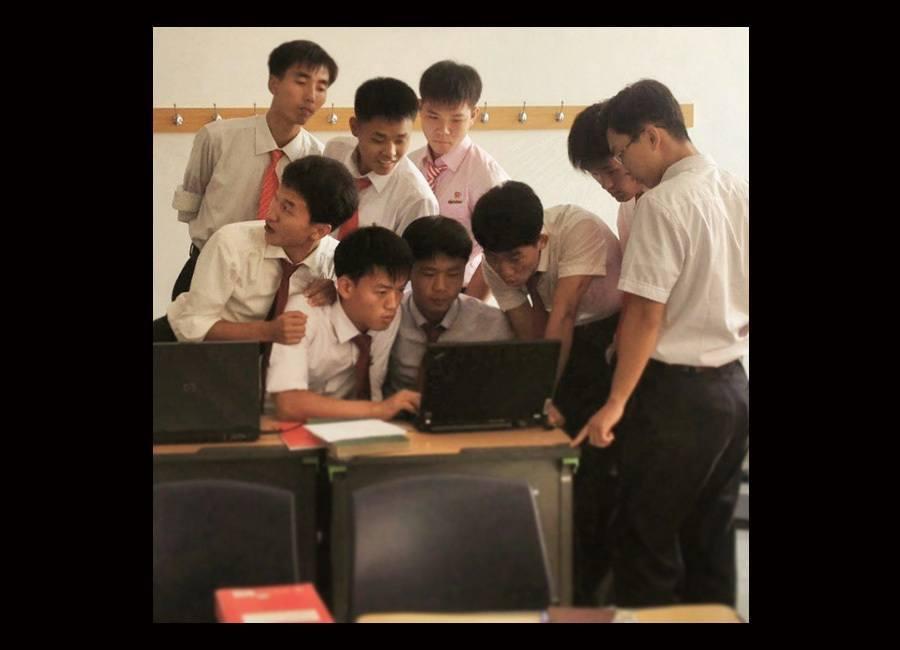 North Korean Students Computer