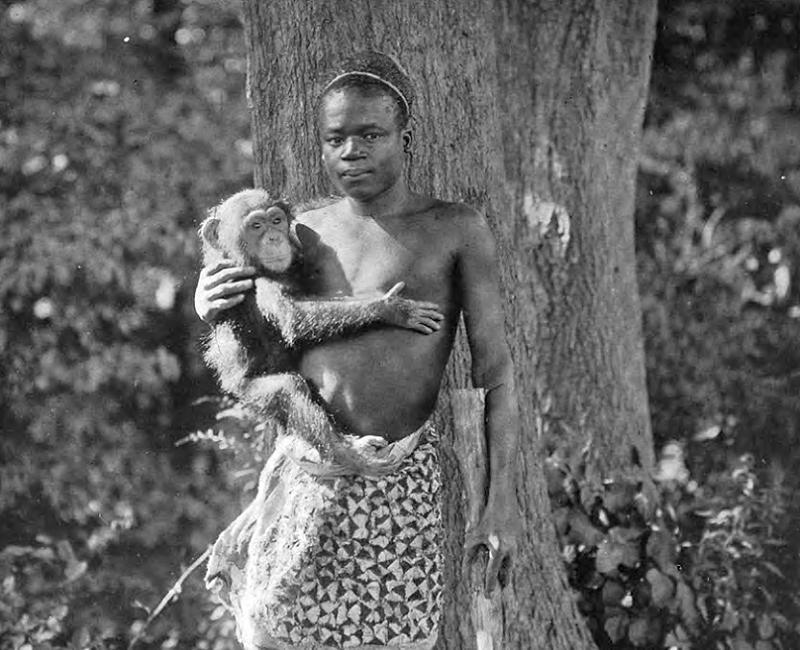 Ota Benga With A Chimp