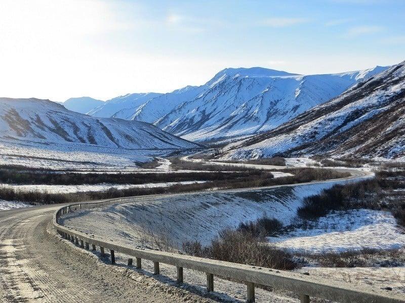 Overview Dalton Highway Alaska Curves