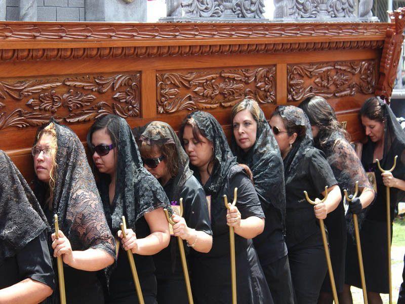 Procession Women Guatemala City